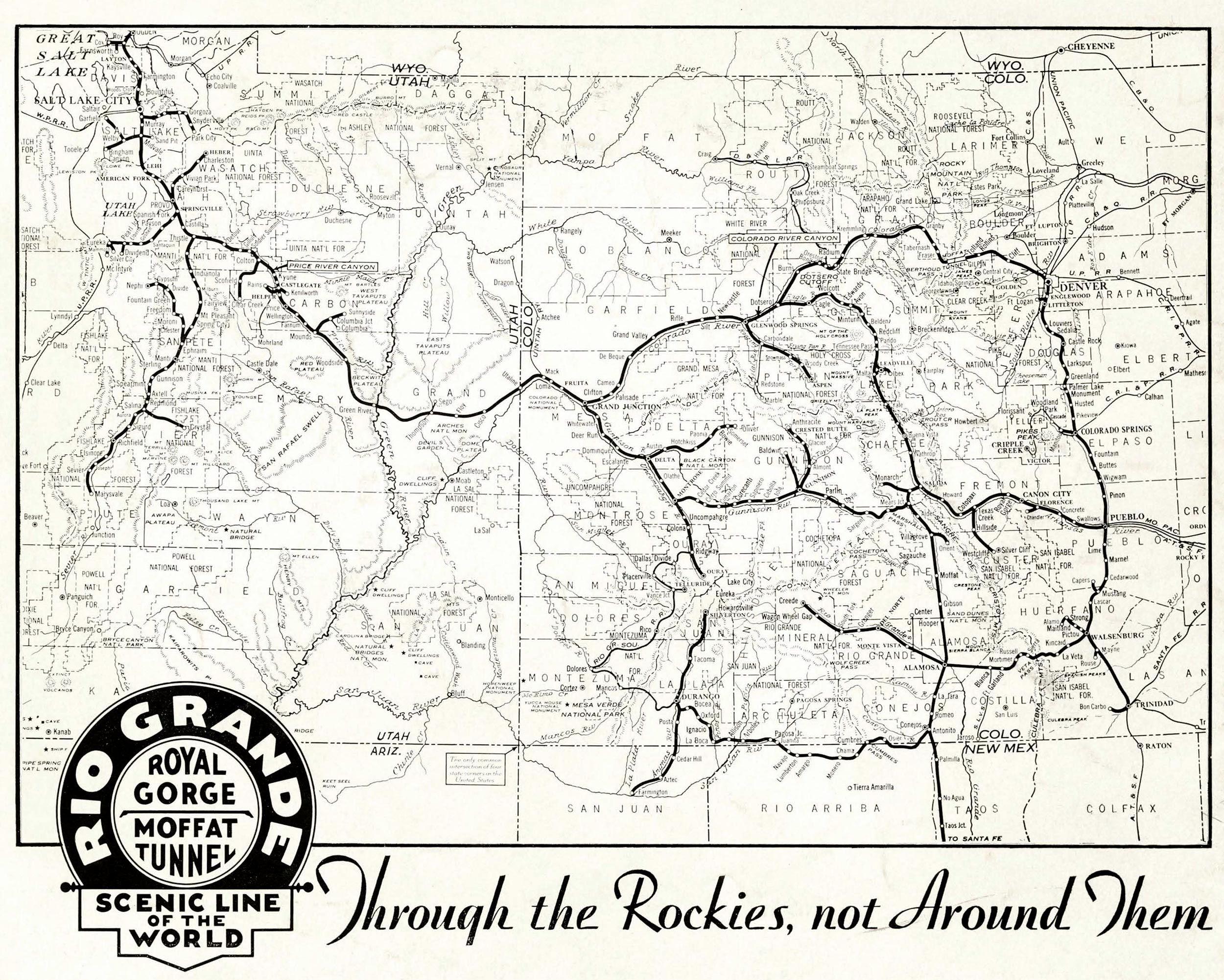 denver and rio grande western railroad map Denver And Rio Grande Western Railroad Colorado Railroad denver and rio grande western railroad map