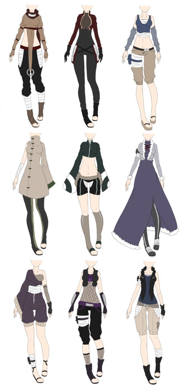 Naruto Outfit Adoptables 2 [CLOSED] by xNoakix3 on DeviantArt | Outfit designs D | Pinterest ...