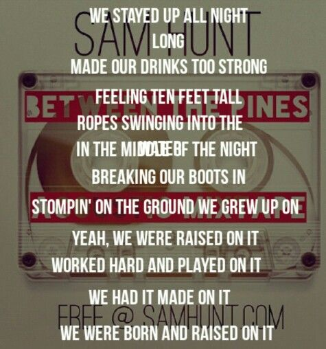 sam hunt country singer raised on it - Google Search