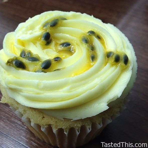 Passionfruit Cupcake - http://www.tastedthis.com/2013/03/08/passionfruit-cupcake-3/