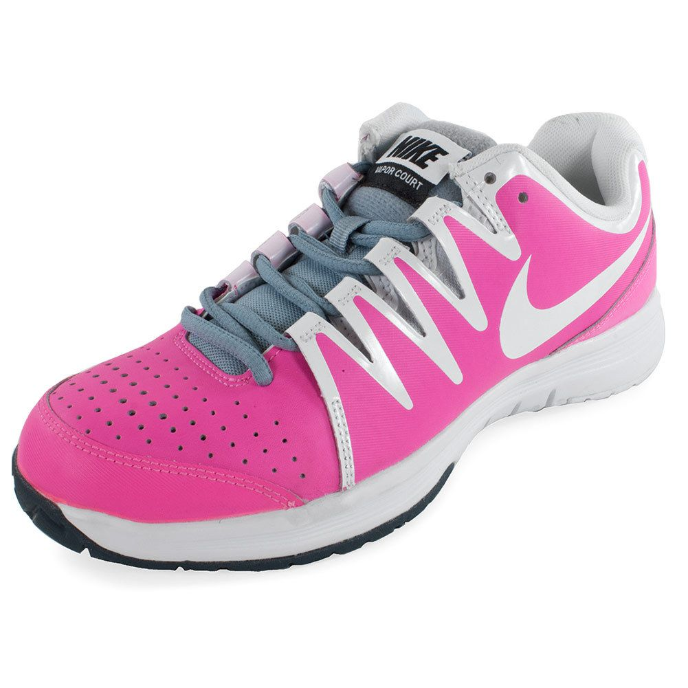 Nike Womens Vapor Court Tns Shoes Pk Gy Light Weight Shoes Tennis Shoes
