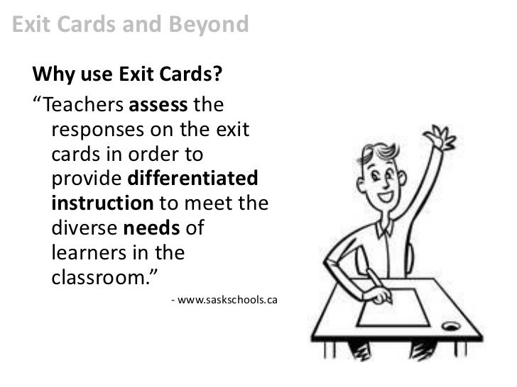 Exit cards and beyond lessons Pinterest Standards based grading - exit ticket template