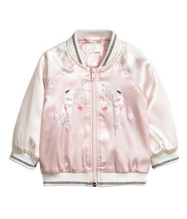 0816be92b Satin Jacket | Light pink | Kids | H&M US | Baby/Toddler Girl ...