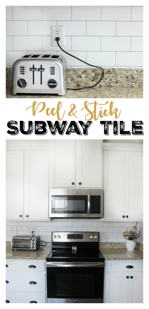 Transform Your Kitchen With A 35 Subway Tile Backsplash Using Wallpaper This Peel And Stick Wallpaper Subway Tile Backsplash Backsplash Wallpaper Subway Tile