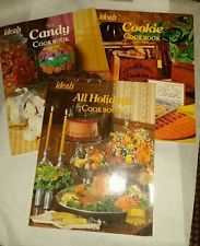 IDEALS Magazine Holidays, Candy and Cookie 3 Magazines from 1974, 77, 79
