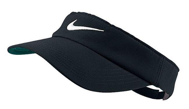 Nike Dri Fit Visor Golf Tennis Running Sun Visor BLACK WHITE Women Womens  Adjust  Nike  Visor 209c296f6db