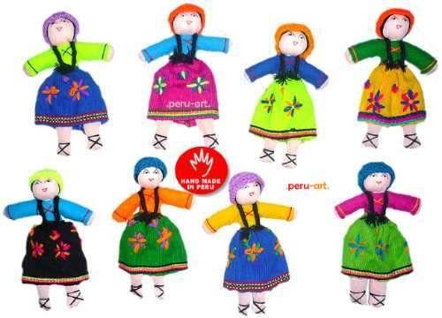 Cholitas Adornos Navidad - Artesania Regalos - S/. 35,00