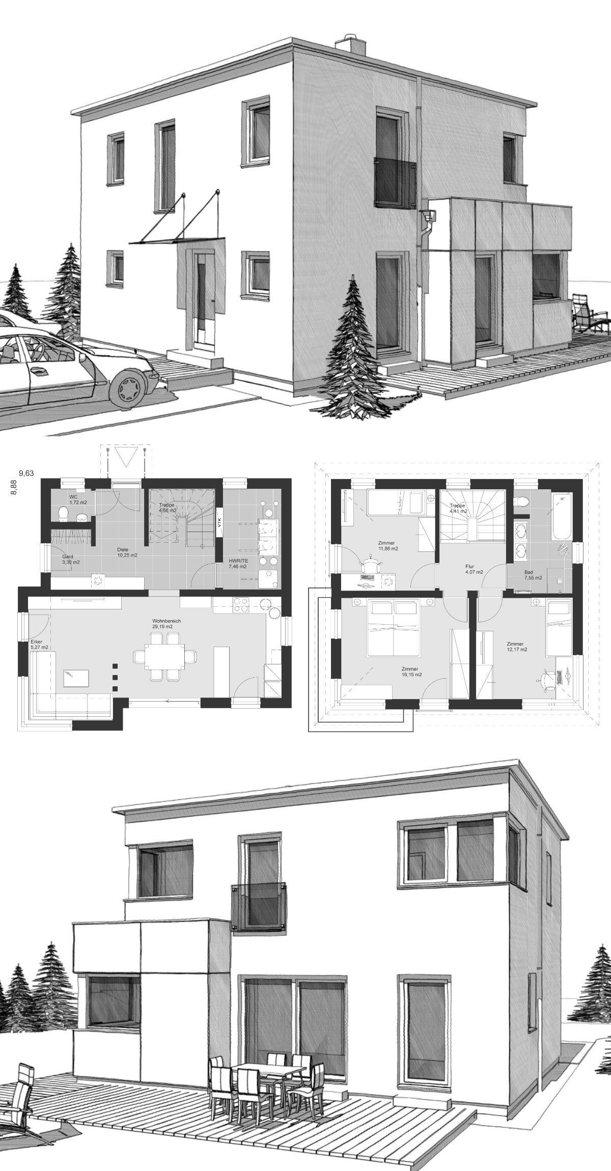 Bad design zeichnung modern minimalist style architecture design house plan ucelk haus