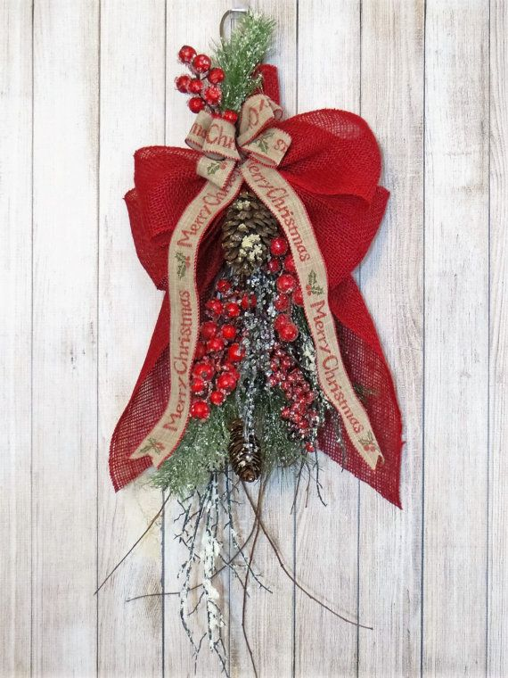 Christmas Swag Christmas Decor Christmas Door Swag by Dazzlement