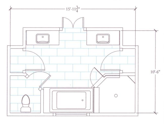 Master Bathroom Layout Master Bathroom Renovation Floor Plan From An Interior Design Project Bathroom Floor Plans Bathroom Layout Plans Master Bathroom Plans