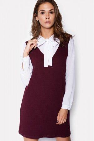 Сукня «Кессі» бордового кольору  289ad8da24600