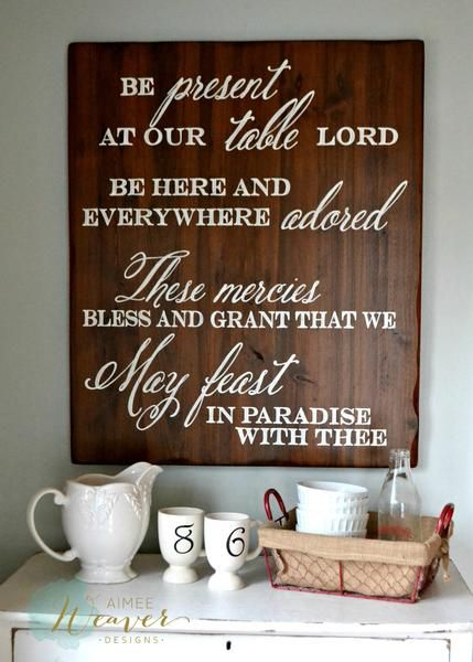 be present at our table wood sign customizable - Wood Sign Design Ideas