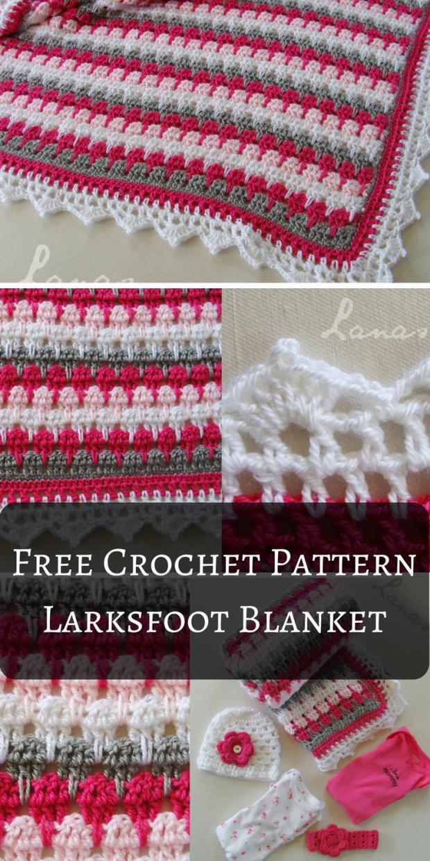 Free Crochet Pattern – Larksfoot Blanket