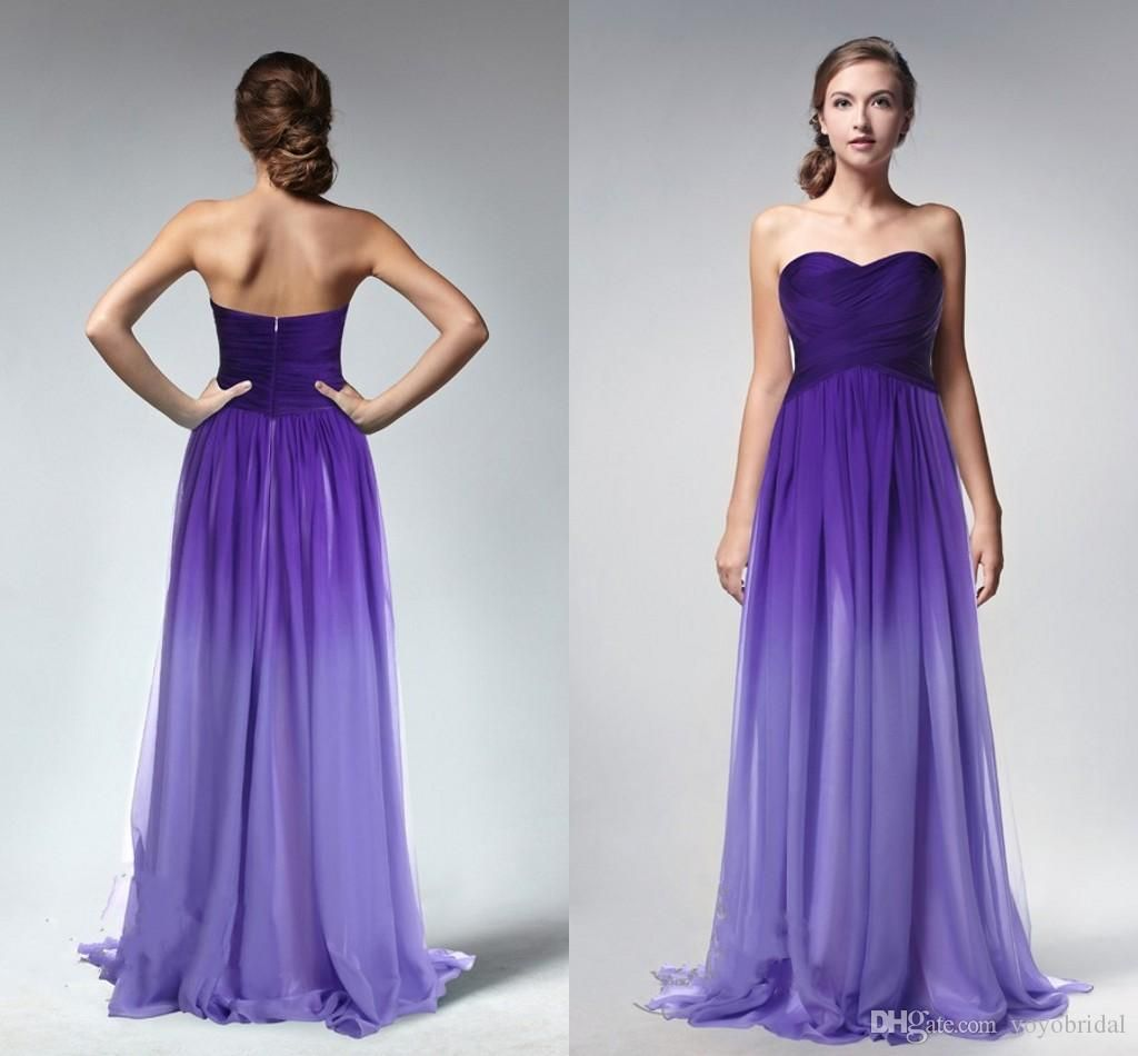 Cheap purple gradient ombre dresses prom dress sweetheart evening cheap purple gradient ombre dresses prom dress sweetheart evening wear formal party gown new celebrity gowns bridesmaids dress criss cross piping as low as ombrellifo Images