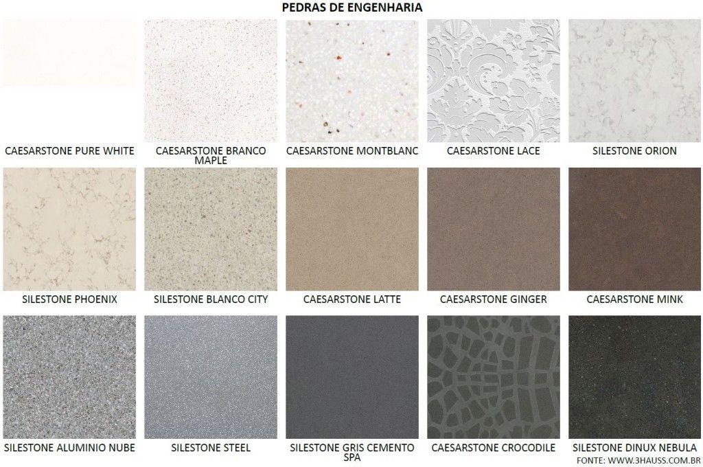 3hauss arquitetura tipos de pedra de engenharia com quartzo granitos e marmores pinterest - Tipos de granito ...