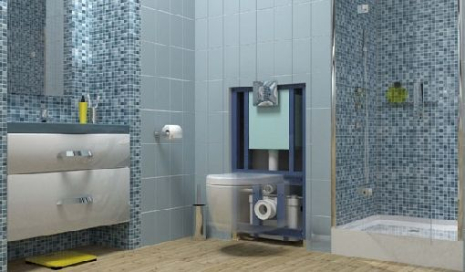 Homeplaza - Drei-in-Eins-Lösung pumpt Abwasser aus WC, Dusche und Co