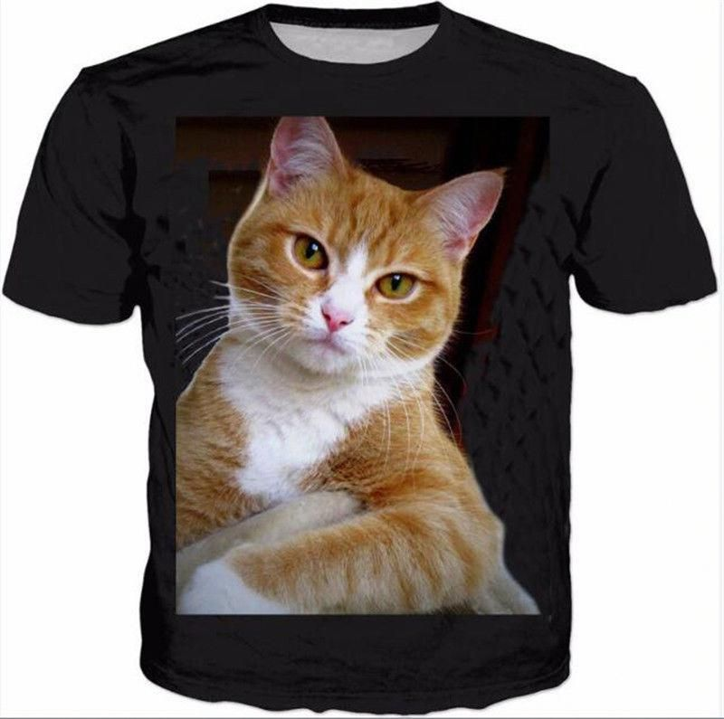 dbb166e99d059 S-5Xl Womens Mens Cute Cat Animals 3D Print Casual T-Shirt Short Sleeve  Tops Tee  3dprintingideas