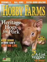 Pick up the September/October 2013 issue of Hobby Farms magazine!