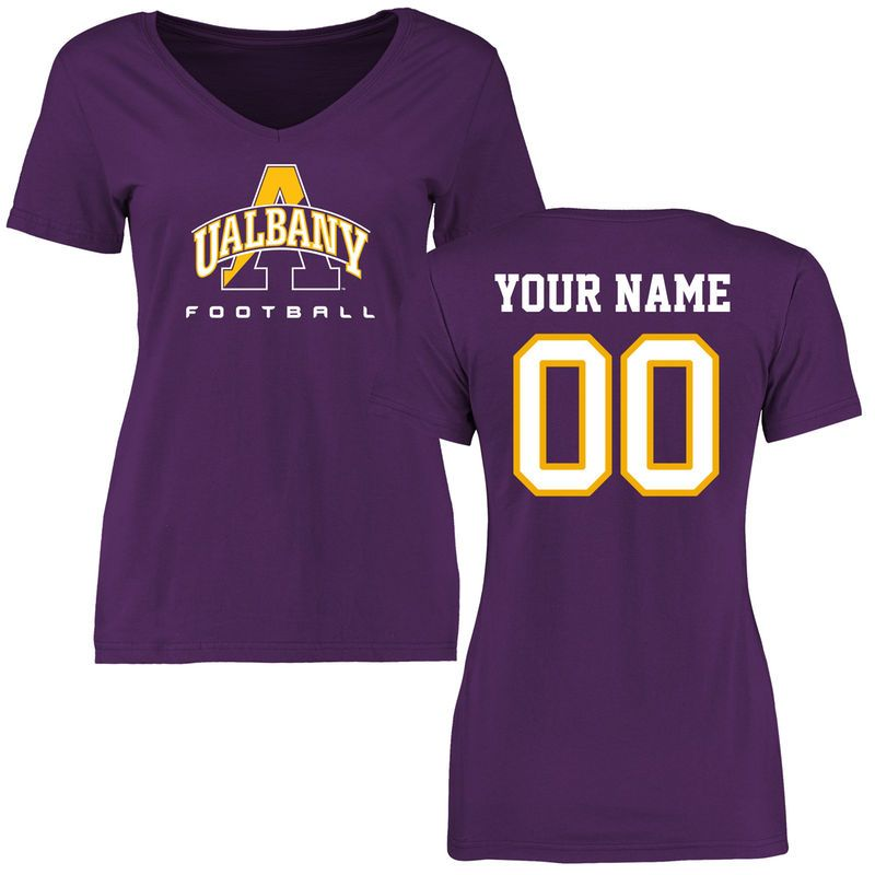 Albany Great Danes Women S Personalized Football Slim Fit T Shirt