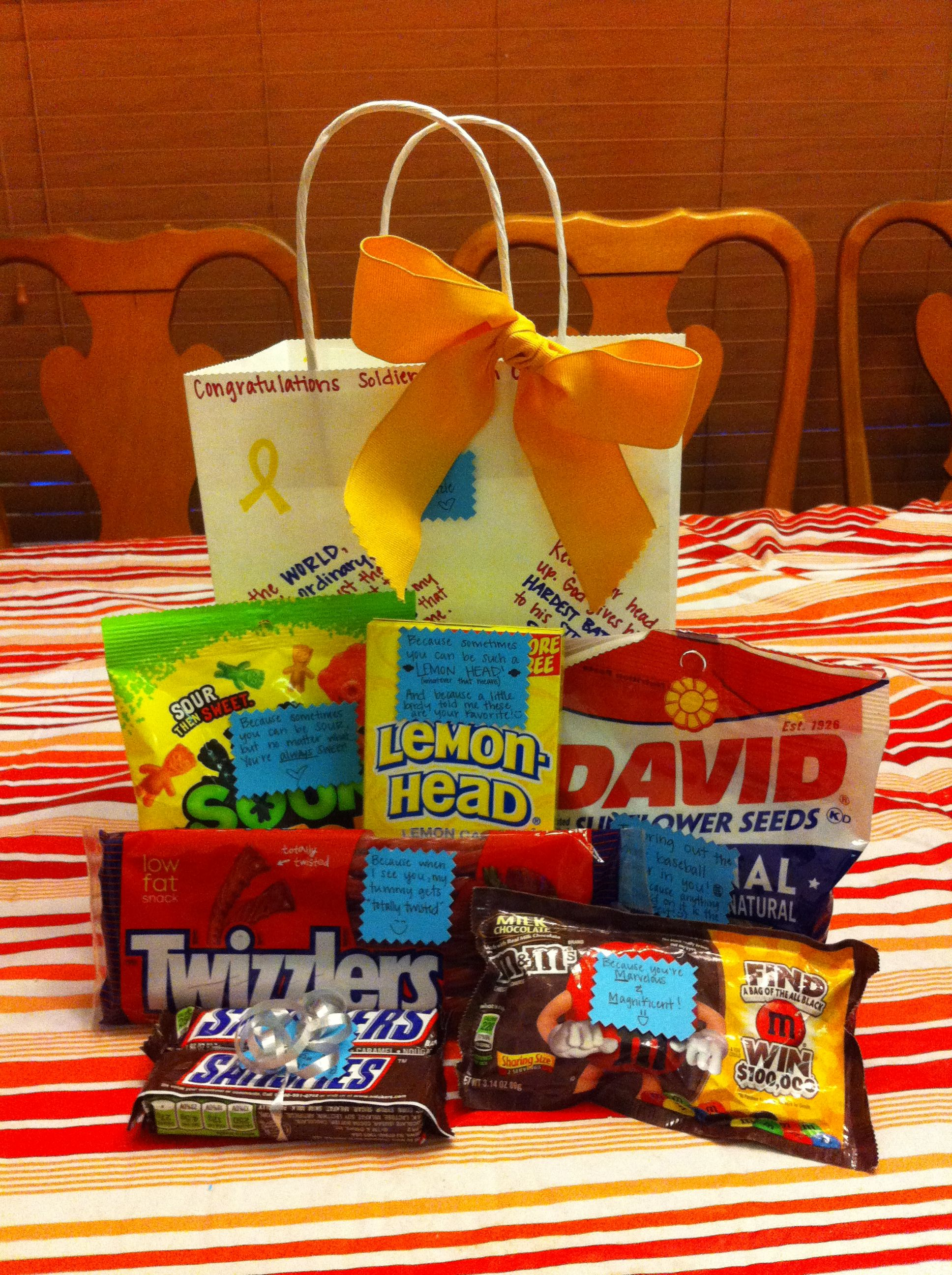 Post Basic Training graduation gift! After over three months without much junk food, soldiers need their sweets!