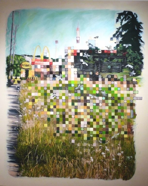 "Saatchi Online Artist: Jill Price; Photograph, 2011, Mixed Media ""Rurbia: Corral, 2011"""