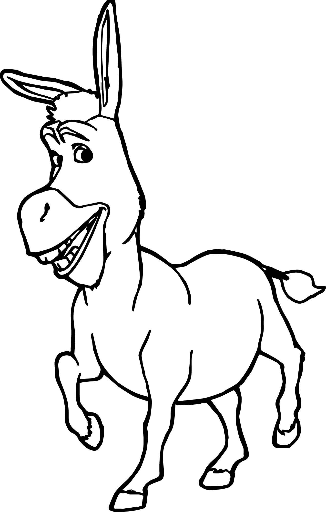 Nice Donkey Shrek Coloring Page