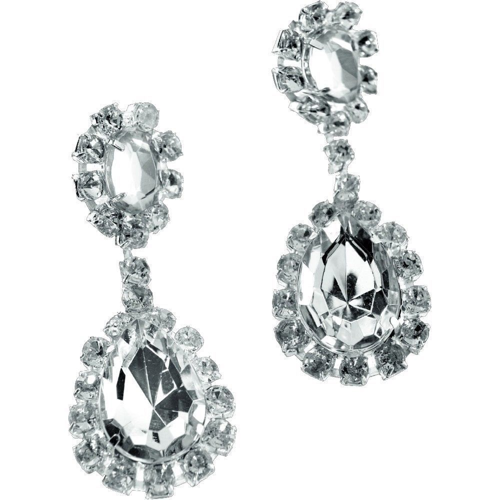 Roaring 20 S Costume Diamond Jewel Earrings