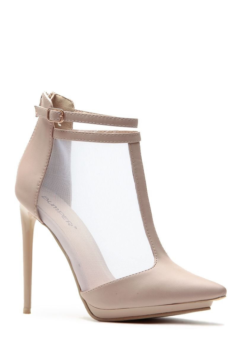 Meshed In Nude Pointed Heels @ Cicihot Heel Shoes online store sales:Stiletto Heel Shoes,High Heel Pumps,Womens High Heel Shoes,Prom Shoes,Summer Shoes,Spring Shoes,Spool Heel,Womens Dress Shoes