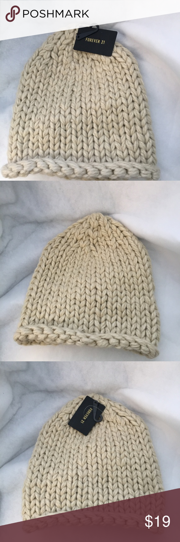 1dde2214ffb51 Forever 21 Knit Beanie Winter Hat New Heavy knit Forever 21 beanie hat. New  with tags. Perfect for cold days Forever 21 Accessories Hats
