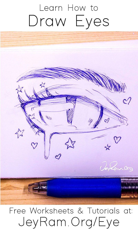 How To Draw Eyes Free Worksheet Tutorial In 2020 Eye Drawing Drawings Realistic Eye Drawing