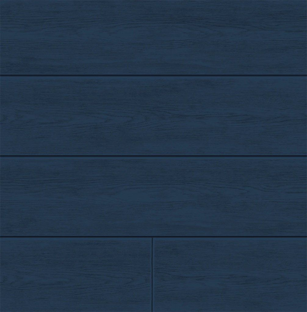 Coastal Blue Shiplap Peel And Stick Wallpaper By Nextwall In 2021 House Exterior Blue Peel And Stick Wallpaper Dark Blue Houses