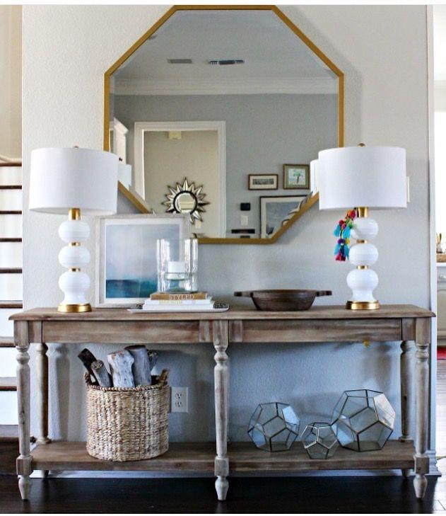 Perfection console table styling / via casa sugarplum