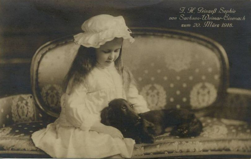 HH Princess Sophie of Saxe-Weimar-Eisenach with her dog