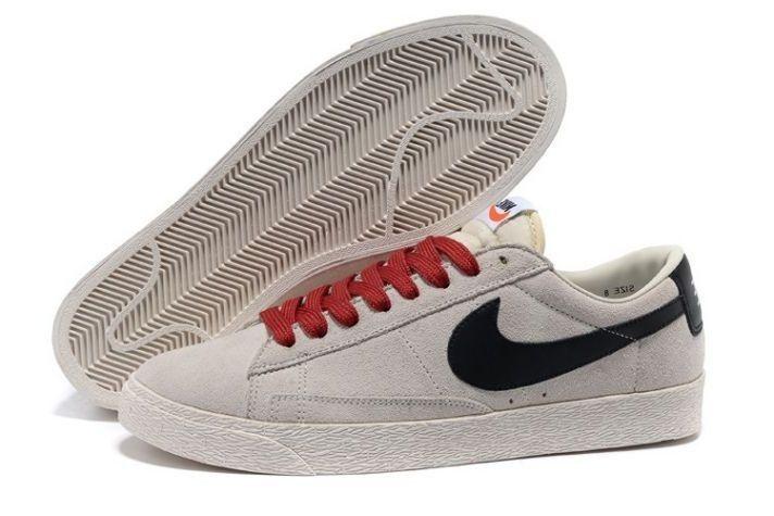 free shipping 2dfb2 ecf06 ... spain frdiuj homme chaussure tennis nike blazer low suede vintage le  loup gris 3e9dd b978a