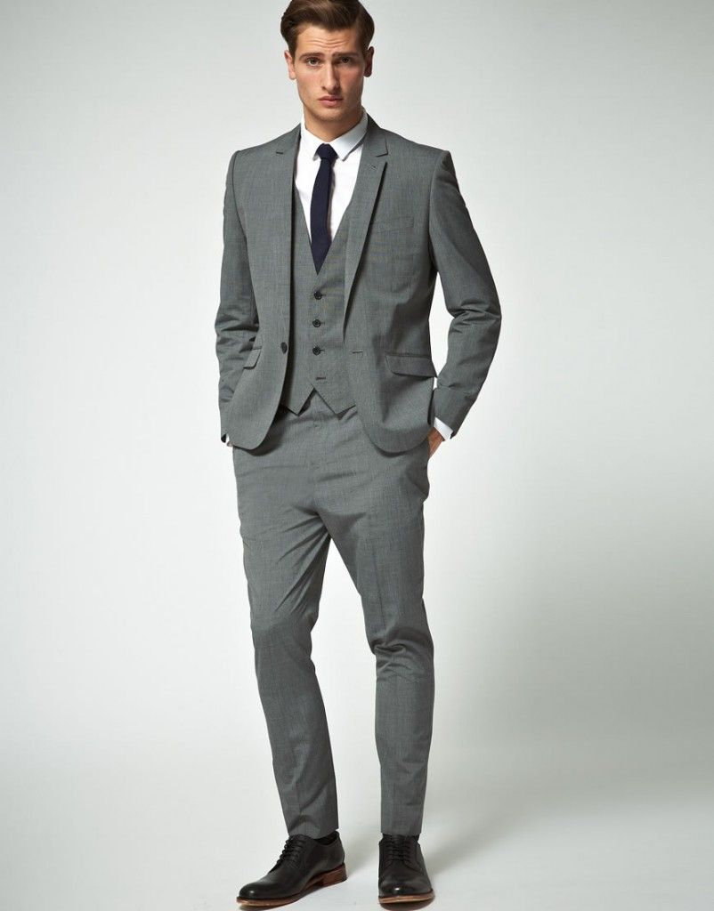 Gray Suit Ideas For Men's Fashion | Groomsmen suits, Skinny ties ...