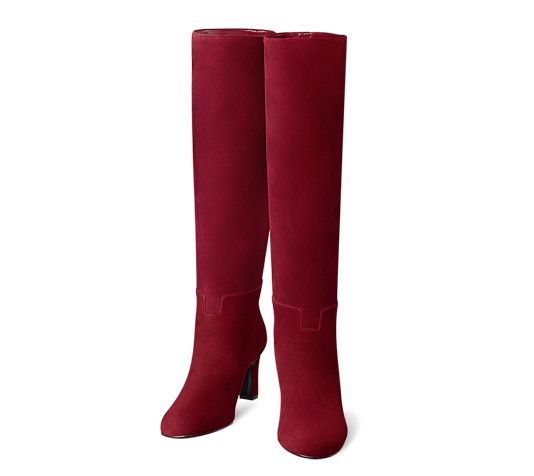 beb18fe353d Judy Hermes ladies  boot in red suede goatskin with hazelnut lining.  Measurement  3.5