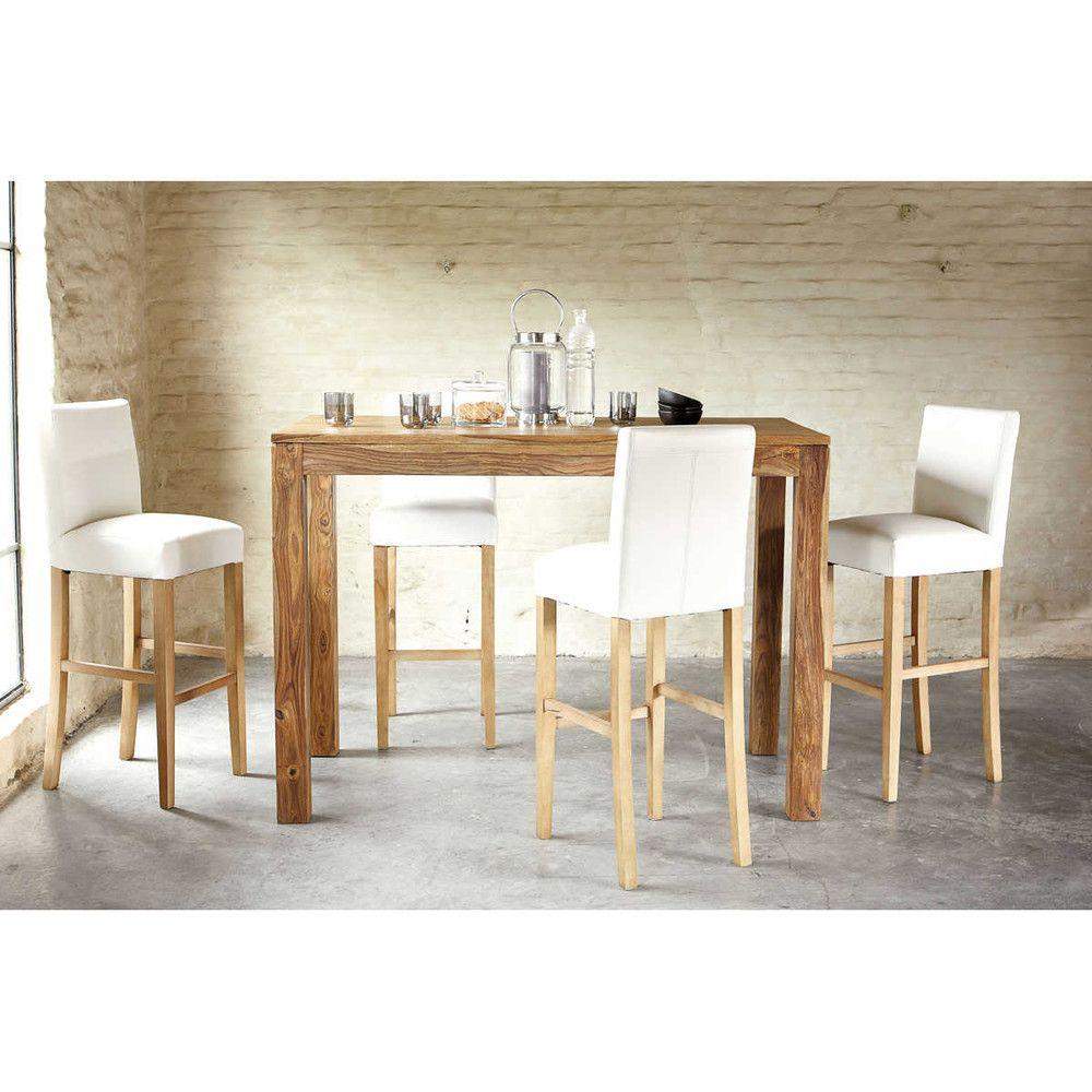 table manger haute en sheesham massif 6 8 personnes l150 pinterest table haute table et. Black Bedroom Furniture Sets. Home Design Ideas