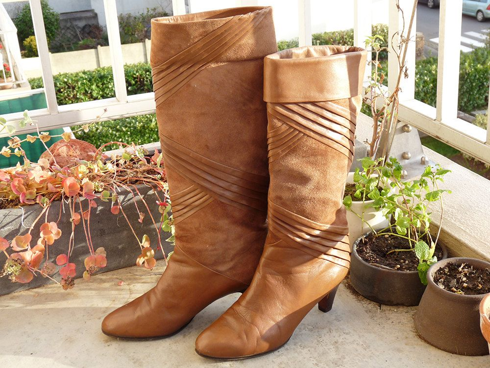 cuir rétro brun vintage Bottes Zuin nubuck boots suede rock 3cAj4LRq5