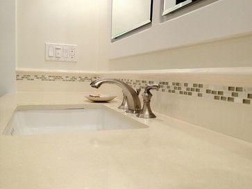 Caesarstone Ermilk Countertop Quartz Bathroom Traditional Es San Francisco Custom Design