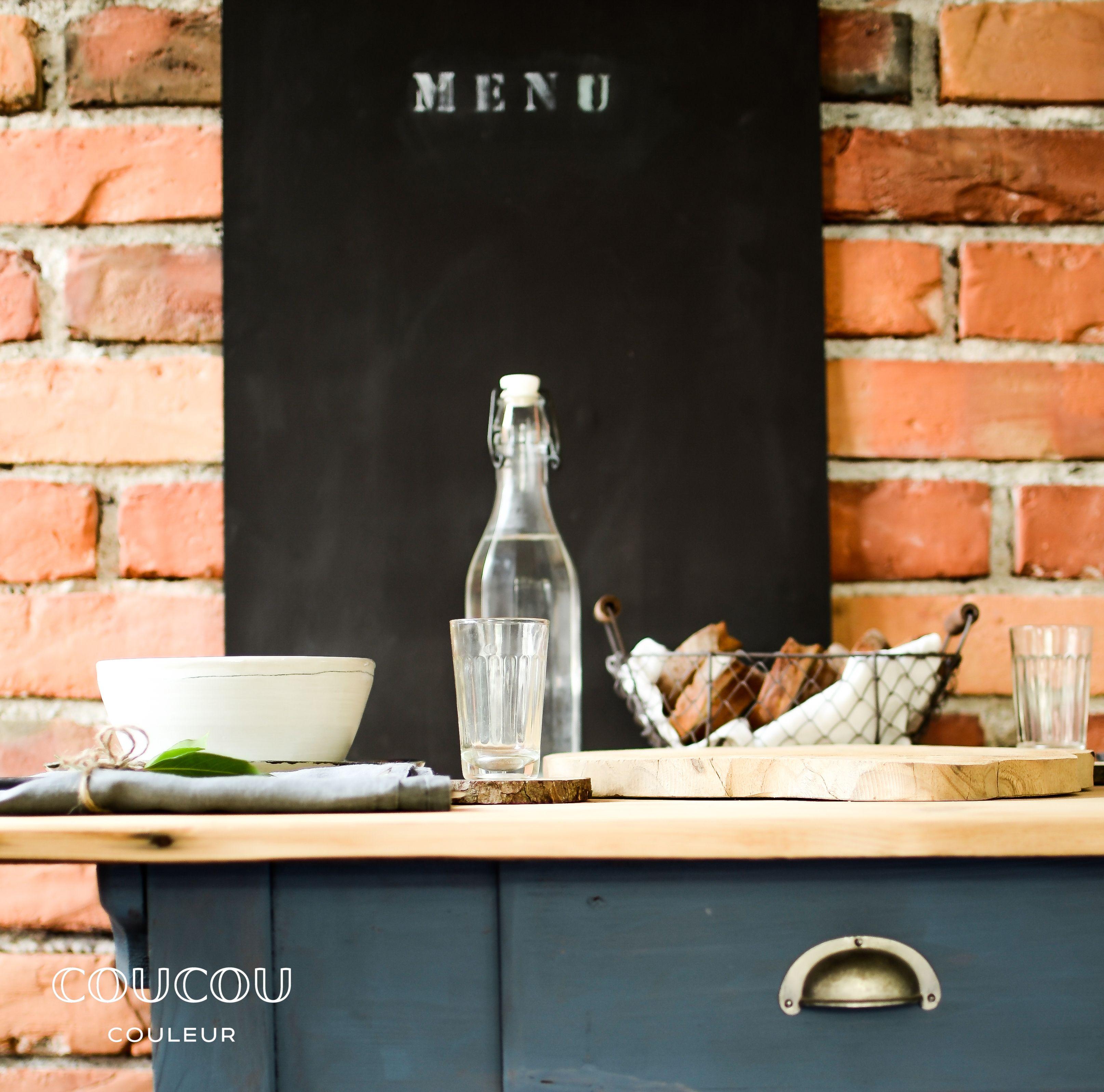 diy- menü - tafel selber machen - mit natürlicher kreidefarbe von