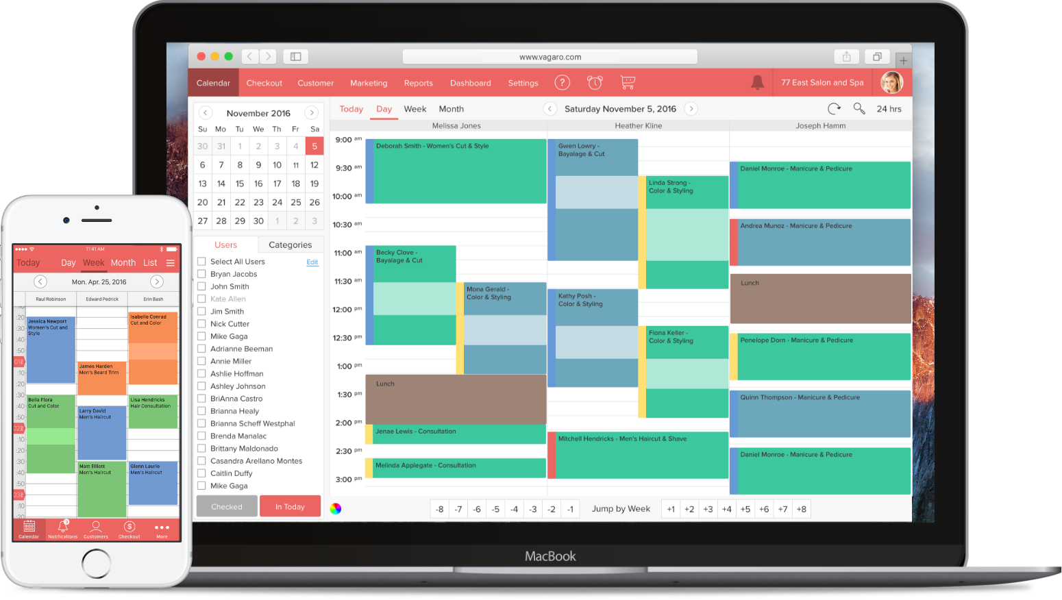 Managing your spa operation is now easy with Vagaro's spa scheduling