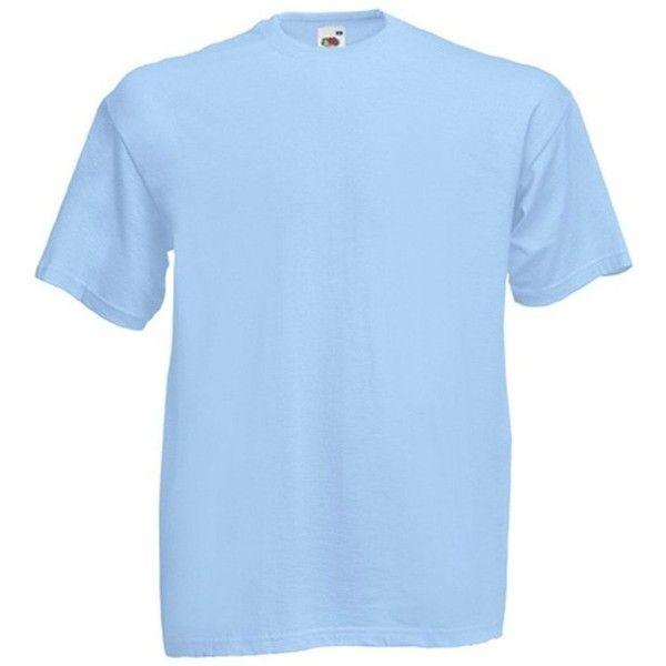 Blank T-Shirt Sky Blue Plain Tee (48 DKK) ❤ liked on Polyvore