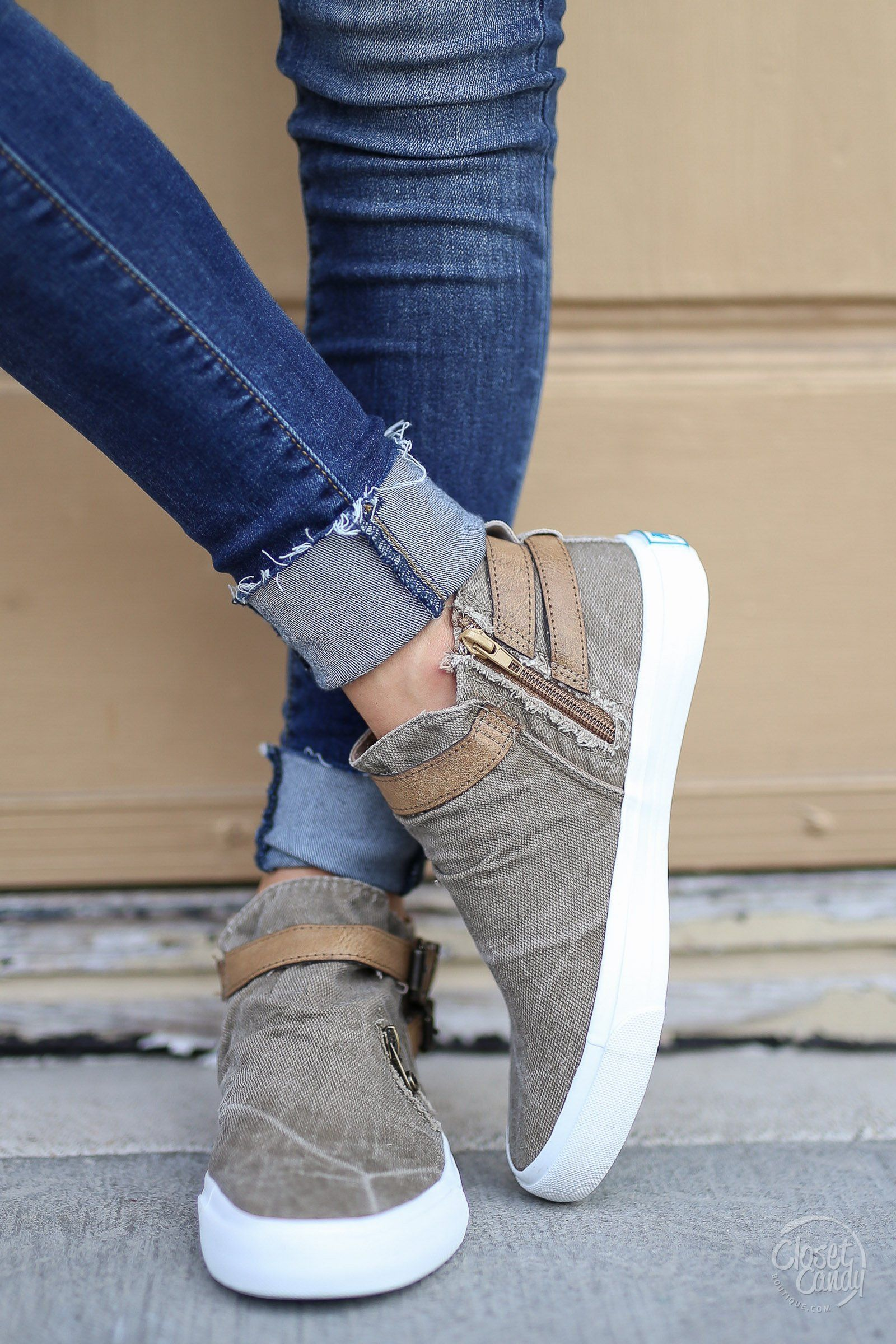 newest 78820 1554a Get It Girl Sneakers - Taupe