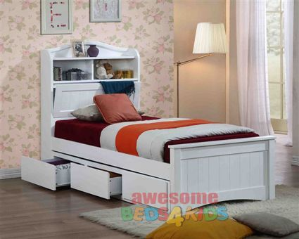 Awesome Beds 4 Kids - Harmony Single Bed Frame with Underbed Storage, $998.00 (http://www.beds4kids.com.au/harmony-single-bed-frame-with-underbed-storage/)