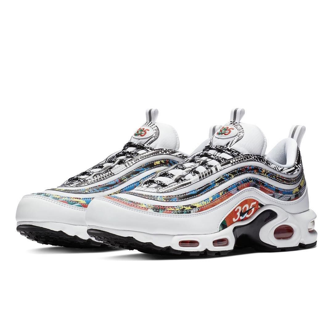 "16b11f2df1c Sneaker News on Instagram  ""Nike recognizes the city of Miami with the Air  Max Plus 97 decorated in some city-specific detailing. For a closer look"