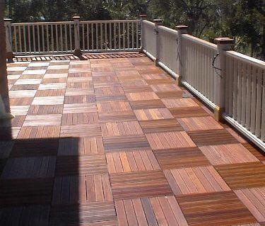 Ipe Deck Tile Deck Tiles Above Ground Pool Landscaping Deck