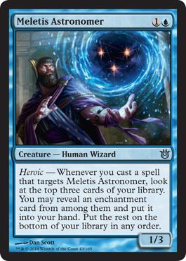 meletis astronomer born of the gods mtg card review born of