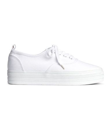 H\u0026M Platform Sneakers $15 | White