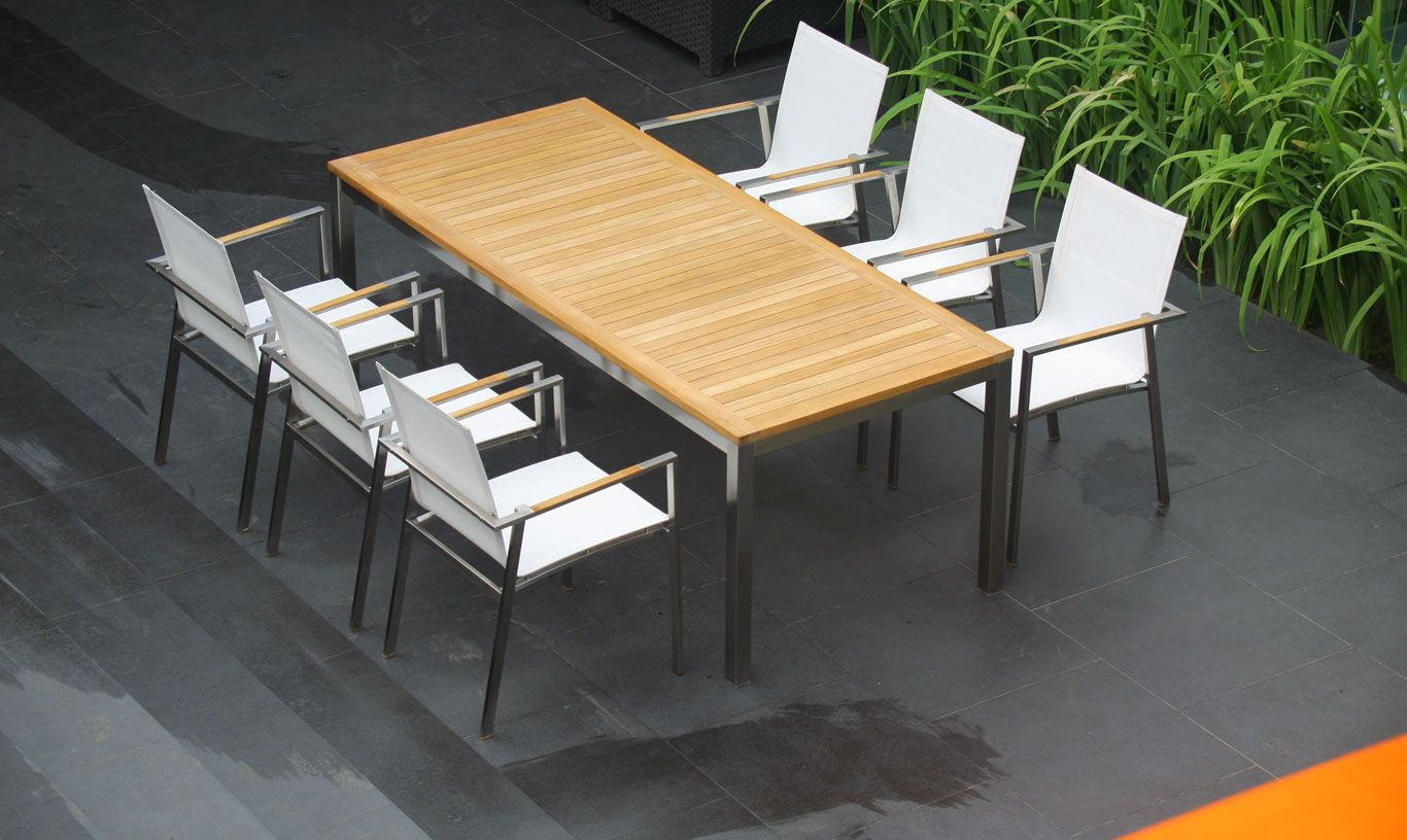 Barra Rectangular Dining Table 210 Teak Outdoor Dining Table