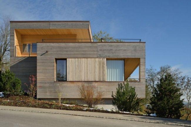 haus am hang km architektur weinfelden schweiz | hanghäuser ... - Moderne Haus Architektur